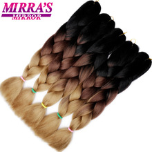 Mirra's Mirror Ombre Crochet Hair Synthetic Braiding Hair