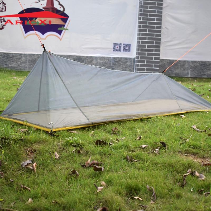 2017 только 260 г Сверхлегкий Открытый Кемпинг Внутренняя палатка лето 1 один человек сетки палатка Средства ухода за кожей Внутренняя палатка отверстия москитная сетка