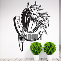 Horse Pattern Horse Animal Wall Stickers Creative Wall Stickers Mirror Backdrop Wall Stickers Living Room Bedroom