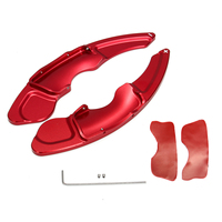 1Pair Red Aluminium Alloy Steering Wheel DSG Extension Paddle Shif Sticker Decoration For Lexus NX IS