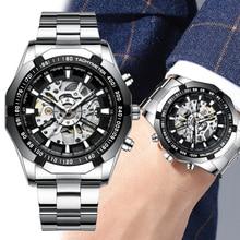 Homme montre mécanique squelette cadran Tourbillon montre pour hommes automatique auto vent mâle horloge militaire étanche montres pour hommes