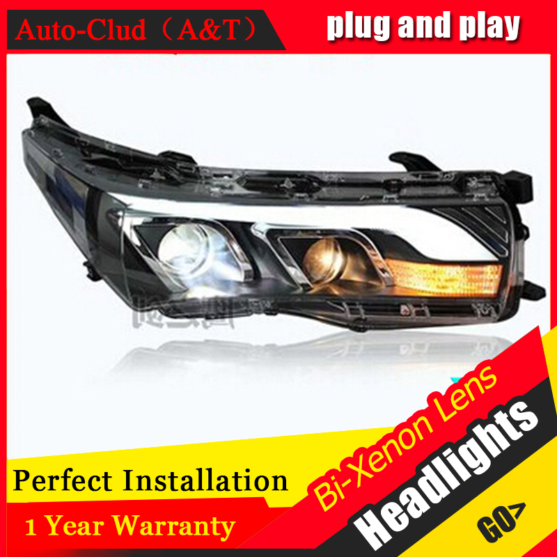 Auto Clud 2014 2015 for toyota corolla headlights LED guide DRL tears eyes car styling H7