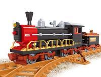 Model building kits compatible with lego trains rails 333 3D blocks Educational model building toys hobbies for children