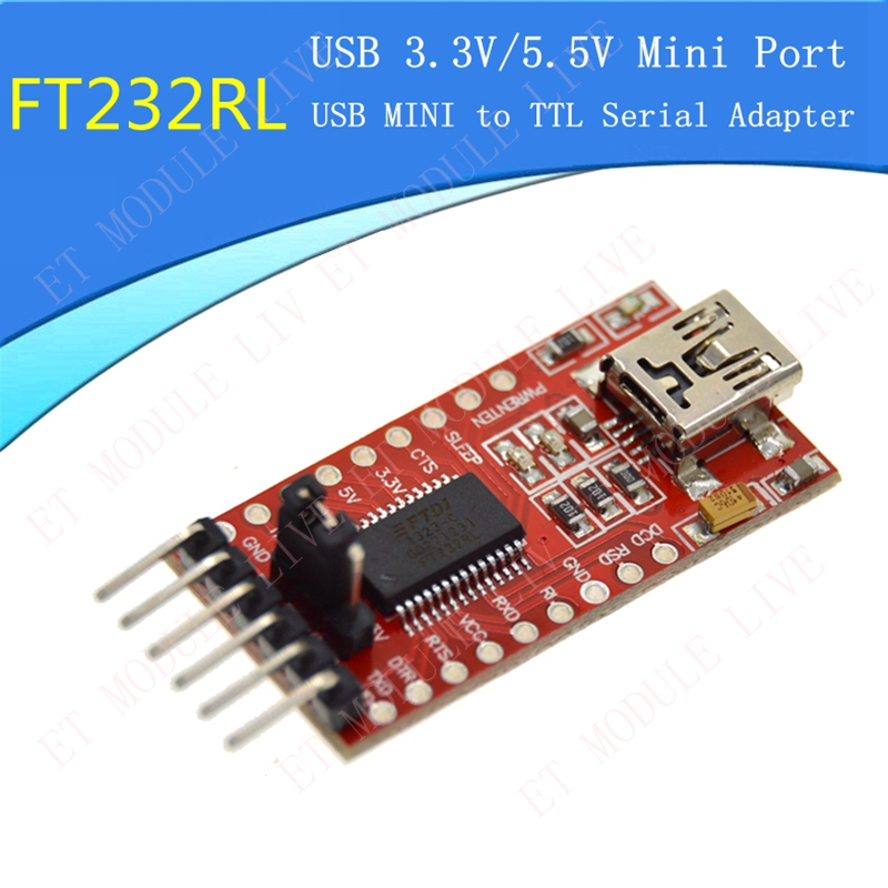 FT232RL FT232 FTDI USB 3.3V 5.5V to TTL Serial Adapter Module USB Mini Port drop shipping ftdi usb to ttl serial converter ft232rl module 5v 3 3v for arduino mini port