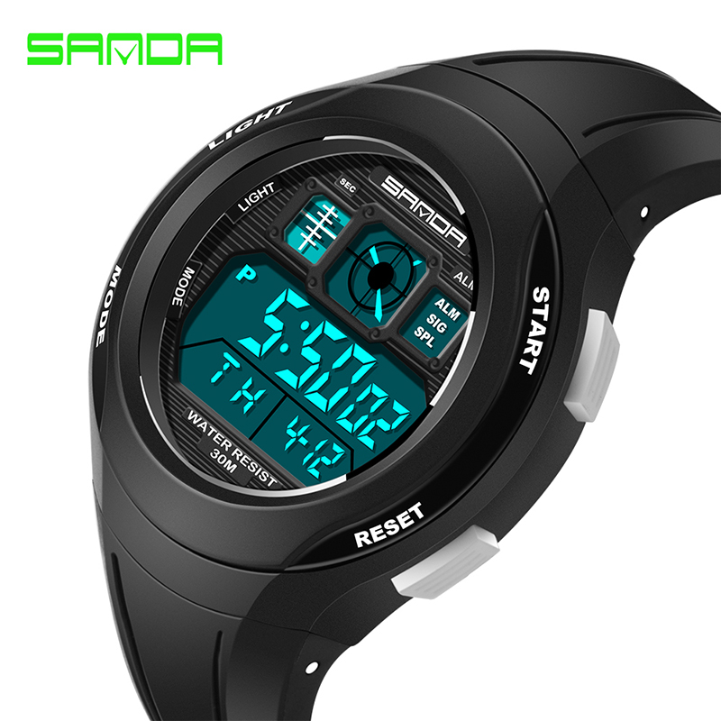 Sanda Creative LED Digital Students Watch Children Waterproof Sports Watches For Kids Wristwatches Clock bayan kol saati 331 children sport watches digital wristwatches for student kids boys girls clock 2018 led electronic watches waterproof kol saati