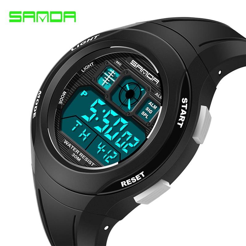 Sanda Creative LED Digital Students Watch Children Waterproof Sports Watches For Kids Wristwatches Clock bayan kol saati 331