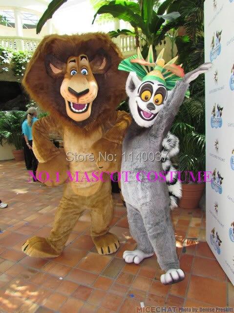 mascot  lion and lemur mascot costume anime cartoon character cosplay show carnival costume fancy dress
