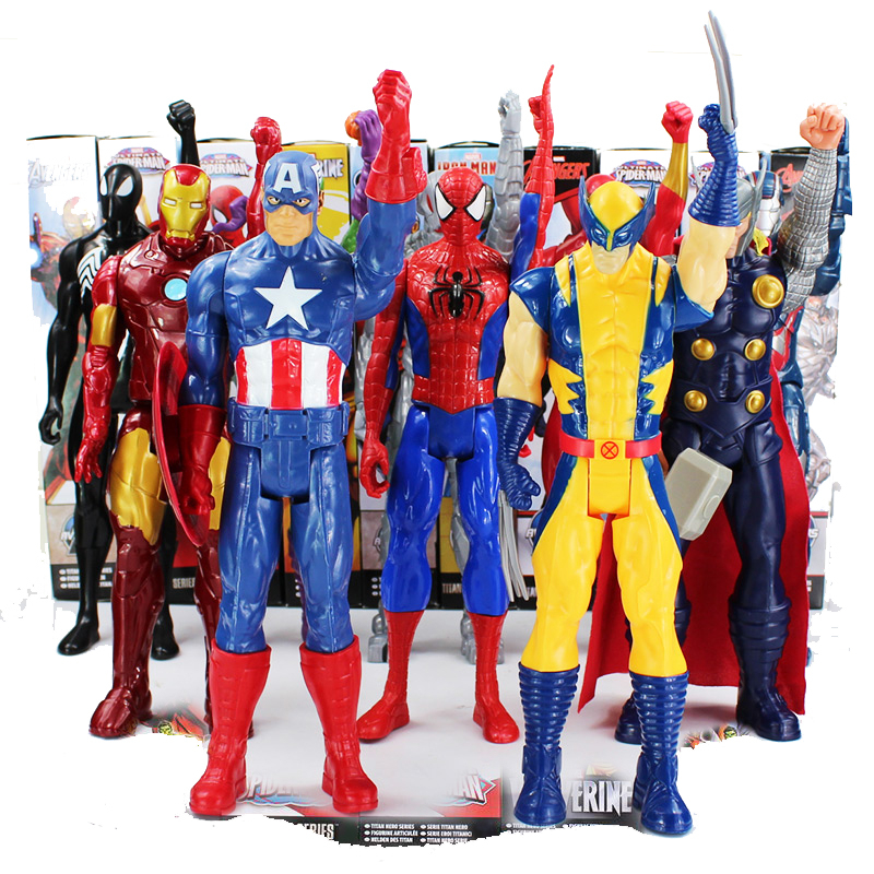 The AVENGERS Marvel Action Figure Toy Wolverine Super Hero X-men PVC Collectible Titan Hero Series With Box Doll Gift 1230CM new hot 22cm avengers super hero hulk movable action figure toys christmas gift doll with box