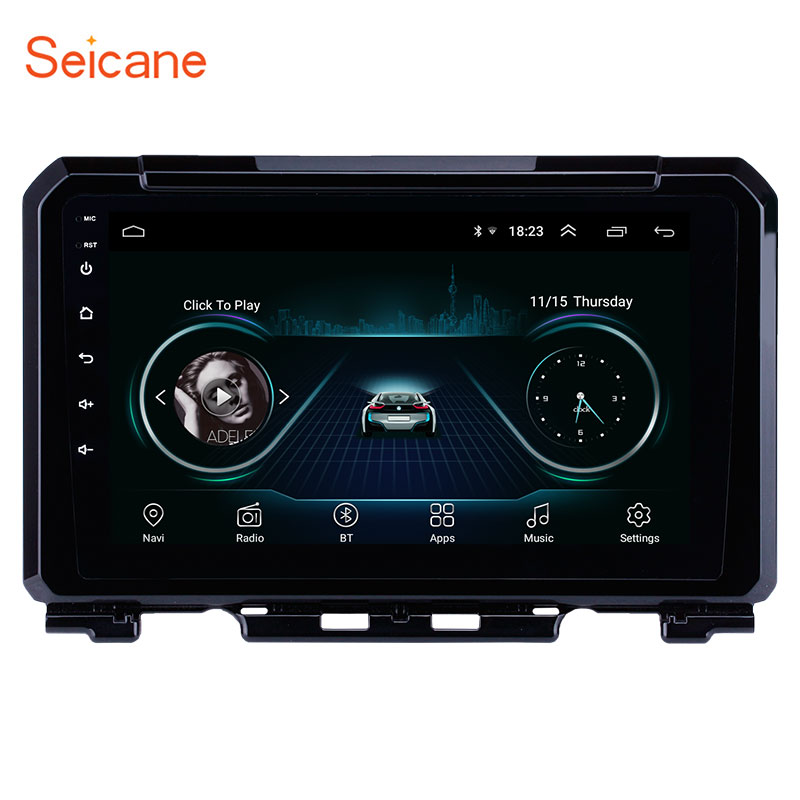 Seicane 9 Inch Android 8.1 Car Radio For Suzuki JIMNY 2019 2Din GPS Navigation Multimedia Player Support DVR AUX Wifi-OBDII SWCSeicane 9 Inch Android 8.1 Car Radio For Suzuki JIMNY 2019 2Din GPS Navigation Multimedia Player Support DVR AUX Wifi-OBDII SWC