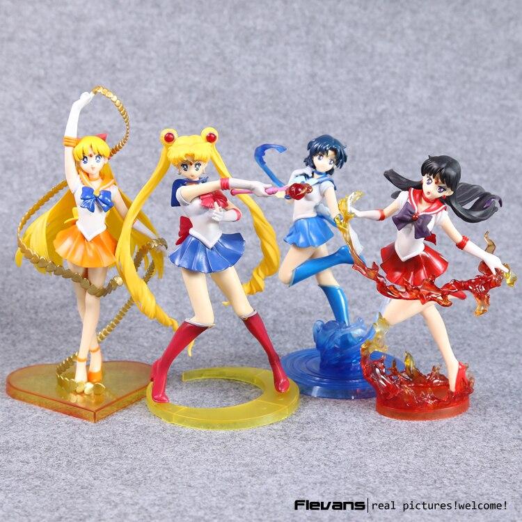 Anime Figuarts Zero Sailor Moon 20th Anniversary Sailor Moon Mars Venus Mercury Jupiter PVC Figure Collectible Toy 5 Styles 6pcs set anime cartoon sailor moon tsukino usagi tuxedo mask sailor venus mercury mars jupiter pvc action figure model toy