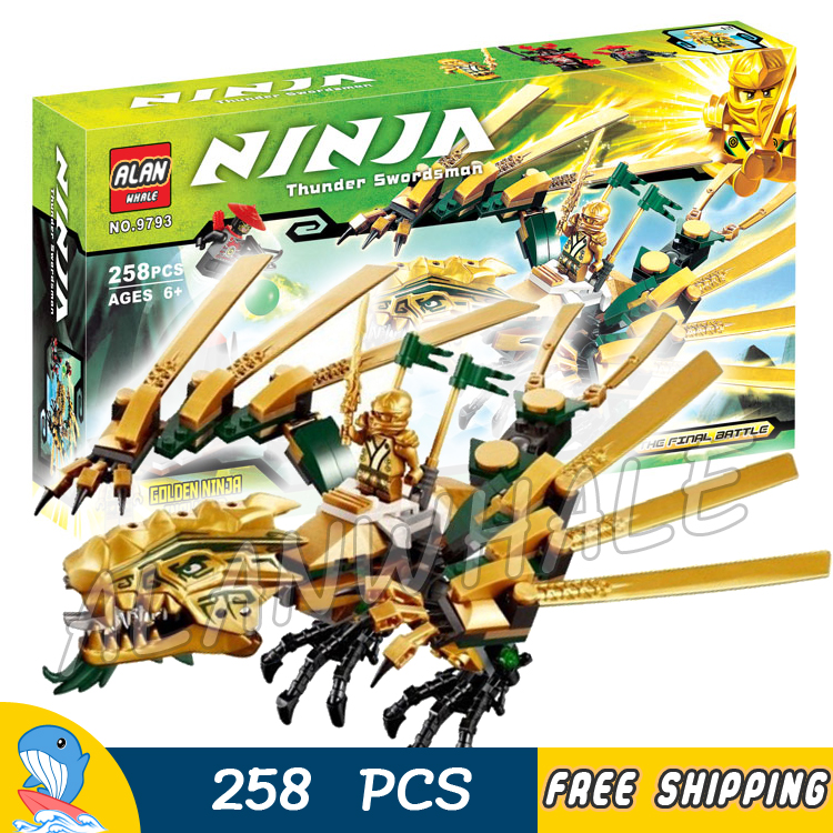 258pcs Ninja The Golden Dragon Catapult Lloyd Jay Cole Kai Scout 9793 Model Building Blocks Boys Toy Bricks Compatible With lego