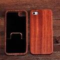 Naturaleza Real de madera de bambú caso para iPhone 5 5S cereza madera teléfono celular móvil trasera dura Shell funda