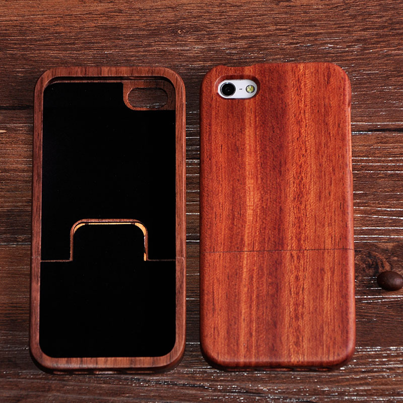 real nature handmade bamboo wood case cover for iphone 5 5s cherry wooden mobile cell phone hard. Black Bedroom Furniture Sets. Home Design Ideas