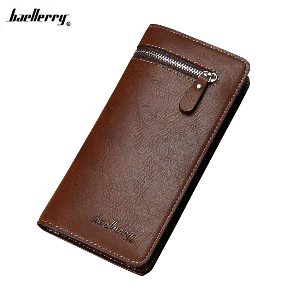2017 New Famous Brand Baellerry Business Men Wallets PU Leather Long Wallet Portable Cash Purses Casual Wallets Male Clutch Bag 2016 famous brand new men business brown black clutch wallets bags male real leather high capacity long wallet purses handy bags