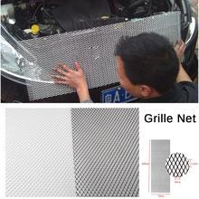 Универсальный 100x33 см Алюминий автомобиля черный корпус решетка сетка гриль автомобиля решетку, гоночные решетки черный/серебристый