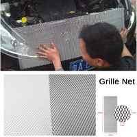 Universel 100x33 cm aluminium voiture véhicule noir corps Grille filet maille Grille Section voiture Grille Net course grilles noir/argent