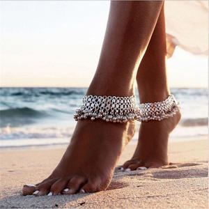 Charms Anklet Bells Legs-Accessories Barefoot Sandals Foot-Jewelry Bohemian Beach Women