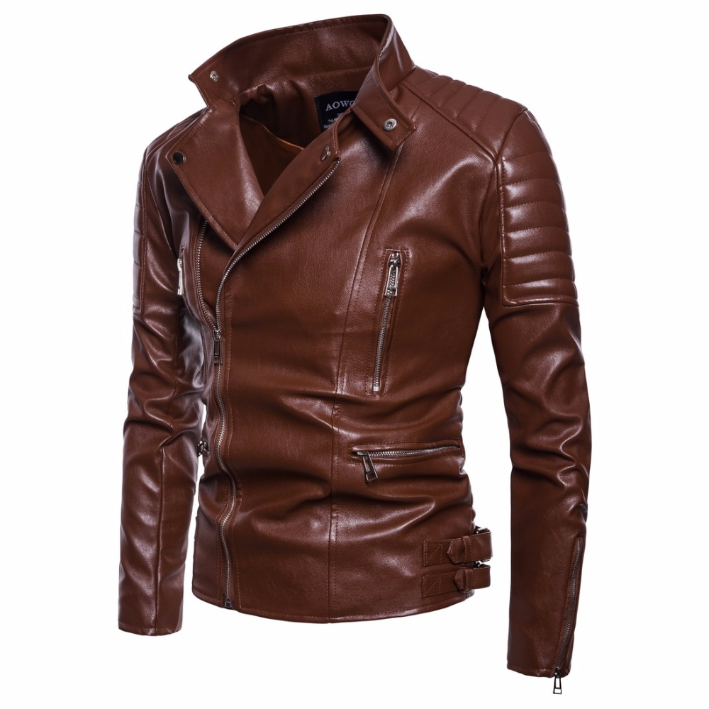 Classic Black Leather Jacket Men Coats Brand High Quality Tops Outerwear Men Business Autumn Winter PU Faux Leather Male Jacket