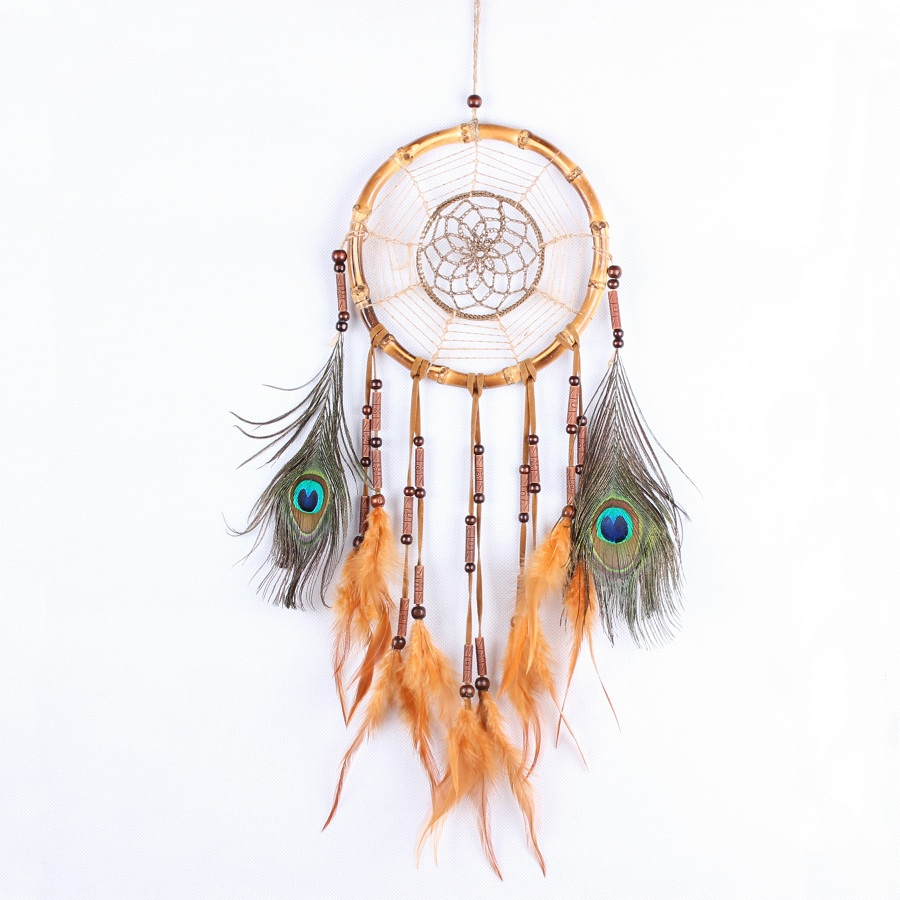Home Decor Home & Garden New5colors Beautiful Dream Catcher Handmade Rattan Dreamcatcher With Feathers For Home Wall Decorations Ornament