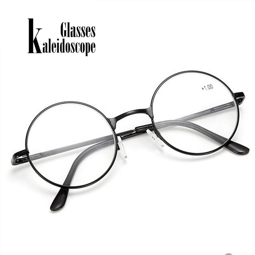 Kaleidoscope Glasses Vintage Round Metal Spring Legs Reading Glasses Retro Men Women Mirror Eyeglasse Metal Frame Red Eyewears