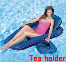 Quick dry 28 polegada x 61 polegada relaxar água linha flutuante sofá do saco de feijão, portátil natação beanbag cadeira, travesseiro com a copa titular reclinersac