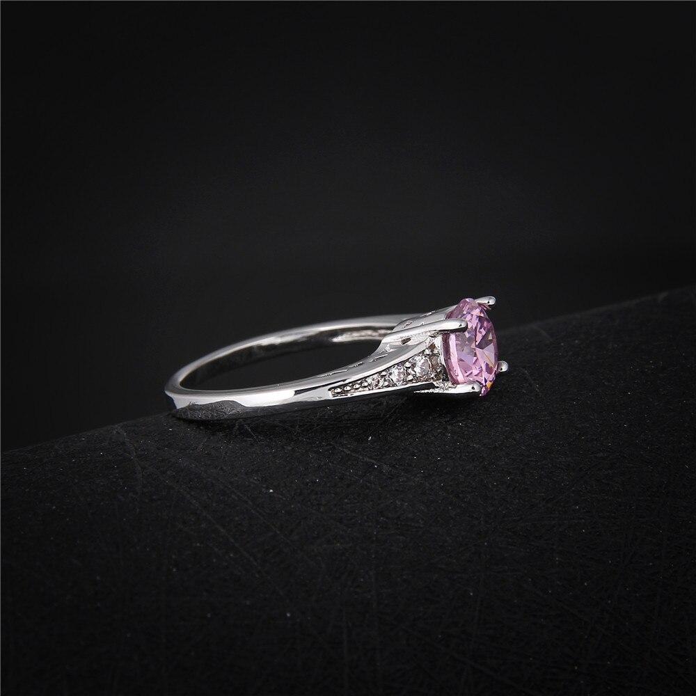 Nette rosafarbene österreichische Kristallringe für Frauen 925 - Modeschmuck - Foto 3
