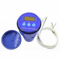 Ultrasonic Level Meter LED Display Ultrasonic Sensor Non contact Level Measurement Device 10m Range 24V Power 4 20mA Output