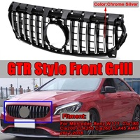 GT GTR Grill Car Front Grille Grill For Mercedes For Benz W117 CLA180 CLA200 CLA250 CLA260 CLA45 For AMG 2013 2016/2017 2018