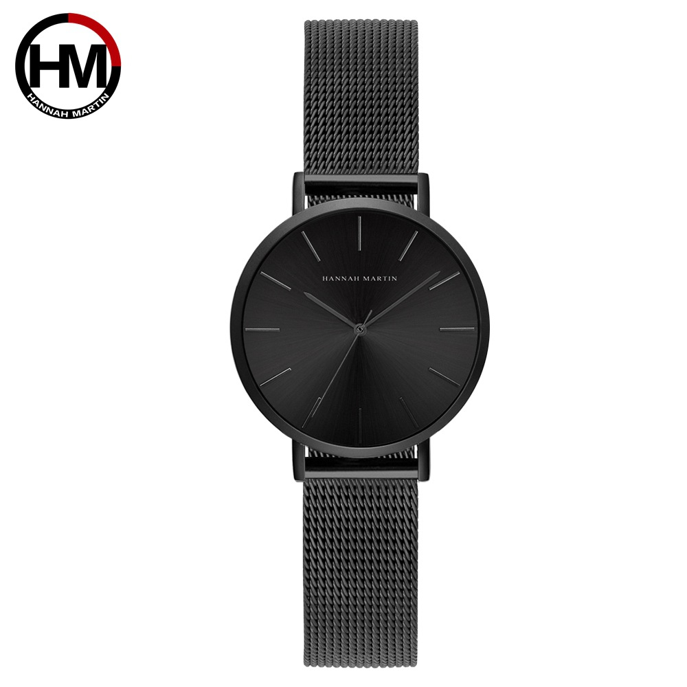 Image 5 - Hannah Martin Fashion Casual Women Watches Rose Gold Simple Ladies Watches Quartz Wristwatches relogio feminino Clock Gift Box-in Women's Watches from Watches