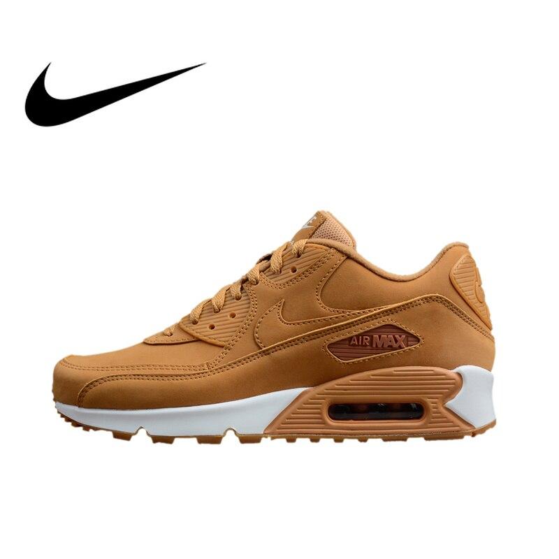 Original Et Authentique Nike AIR MAX 90 Hommes de Lumière Chaussures de Course Respirant Espadrilles de Marche En Plein AIR Jogging Sneakers 881105-200
