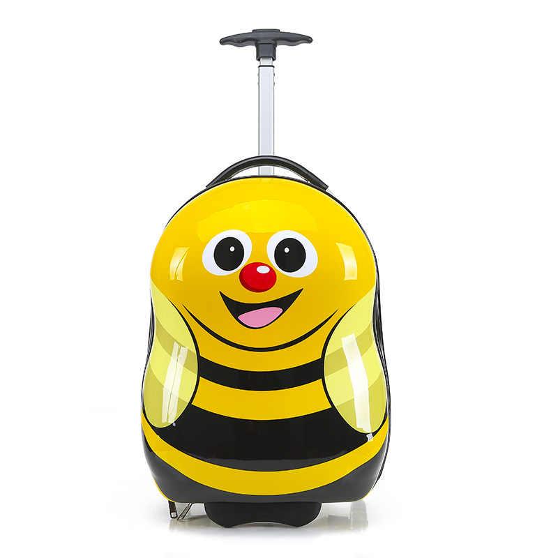 新しい子供の Hardside 荷物の漫画のスーツケース少年キャビンローリング荷物学生旅行トロリー荷物セット子供輪バッグ