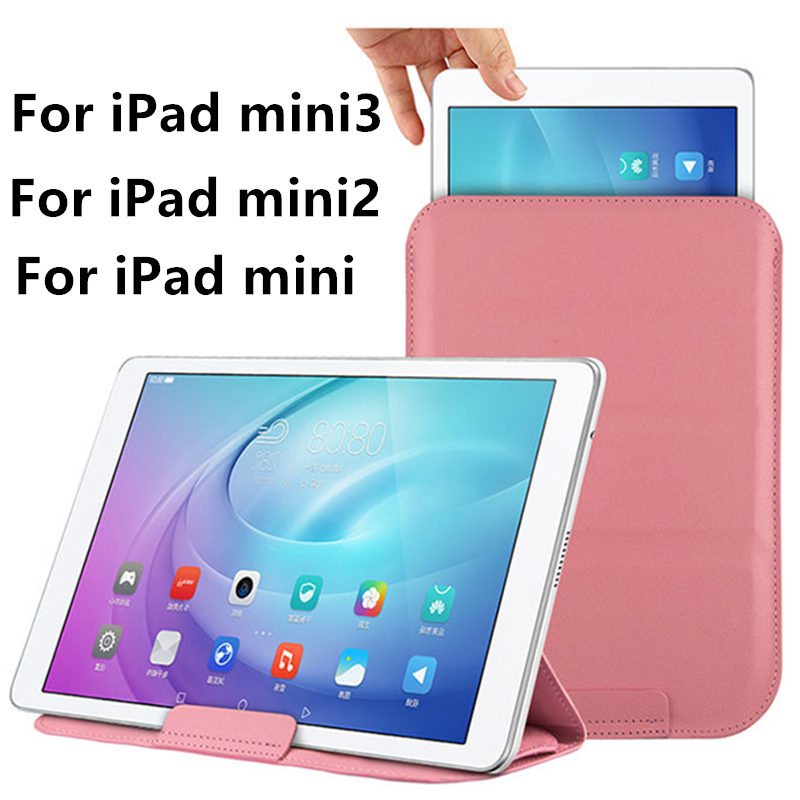 все цены на  Case Sleeve For iPad mini 3 Protective Smart cover Protector Leather For iPad mini 2 mini 1  7.9 inch Pad Tablets Cases Cover  онлайн