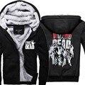 Mens Casual The Walking Dead Hoodies Zombie Hands Scary Winter Fleece Super Warm ZIp up Sweatshirts Coats