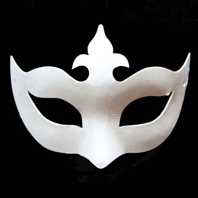 Máscara de princesa de la Corona sin pintar de papel blanco para las ...