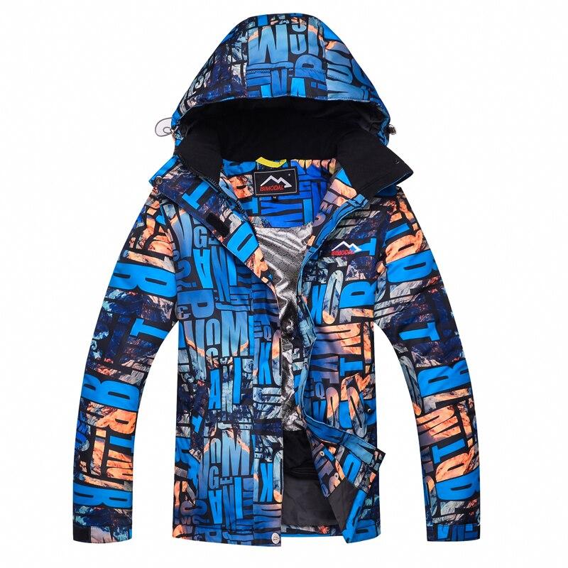 2019 nouveau chaud imprimé Ski costume hommes femmes imperméable Ski Snowboard veste vêtements skiingOutdoor hiver neige manteaux