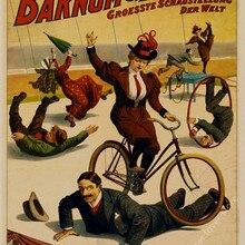 Bicicleta ciclismo carrera Vintage poster retro arte de pared pegatina bar Café decoración del hogar pintura antigua sala carteles de habitaciones