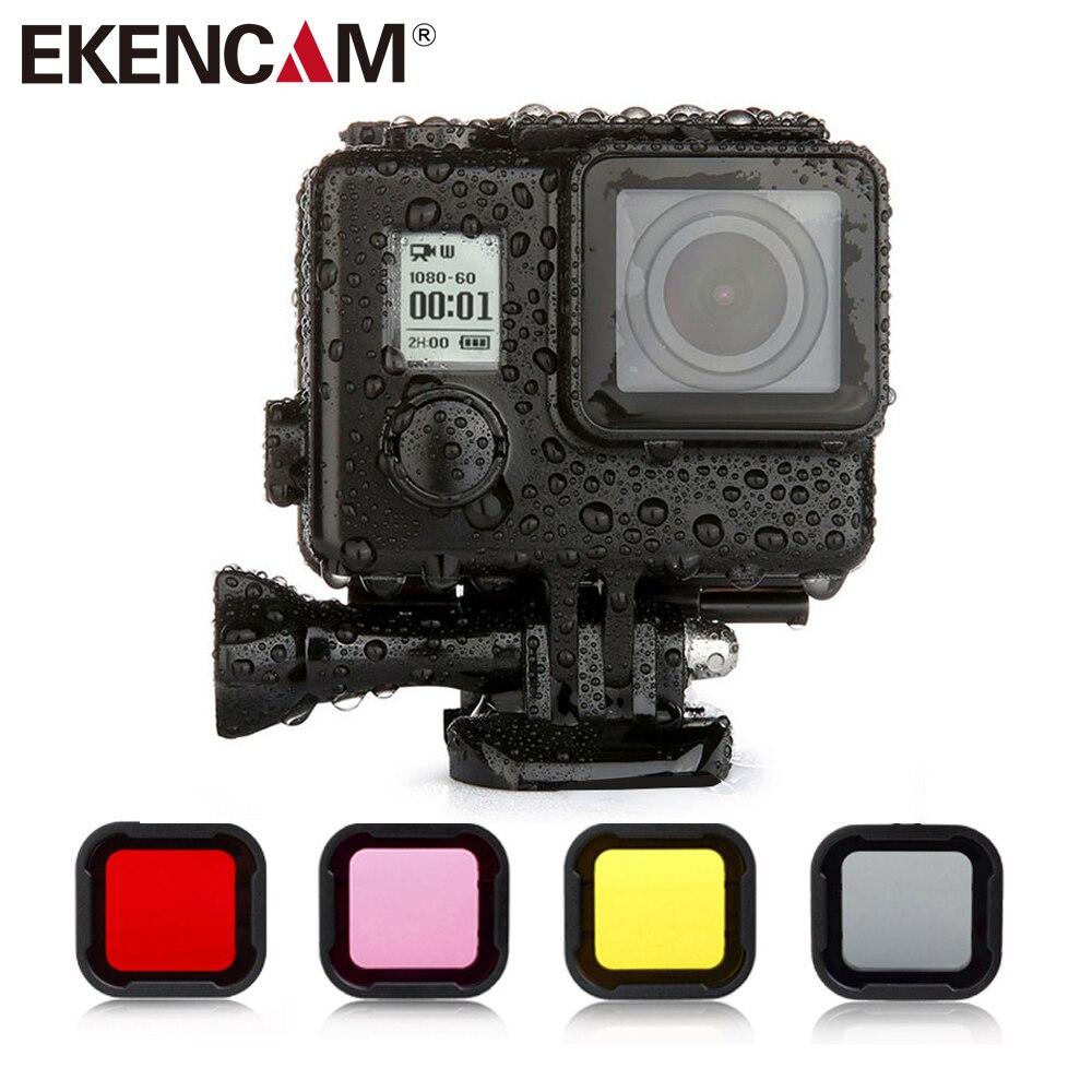 Diving Filter for GoPro Hero 3+ For Go Pro 4 Black Sliver For Xiaomi Yi 4k Camera 4color EKEN H9r plus H5S H6S H8r Diving filter
