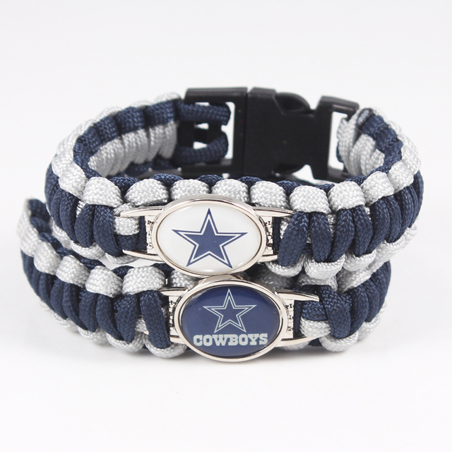 Dallas Cowboys Bracelet Sport Team Umbrella Braided Football Fans Gift 10pcs Paracord Survival