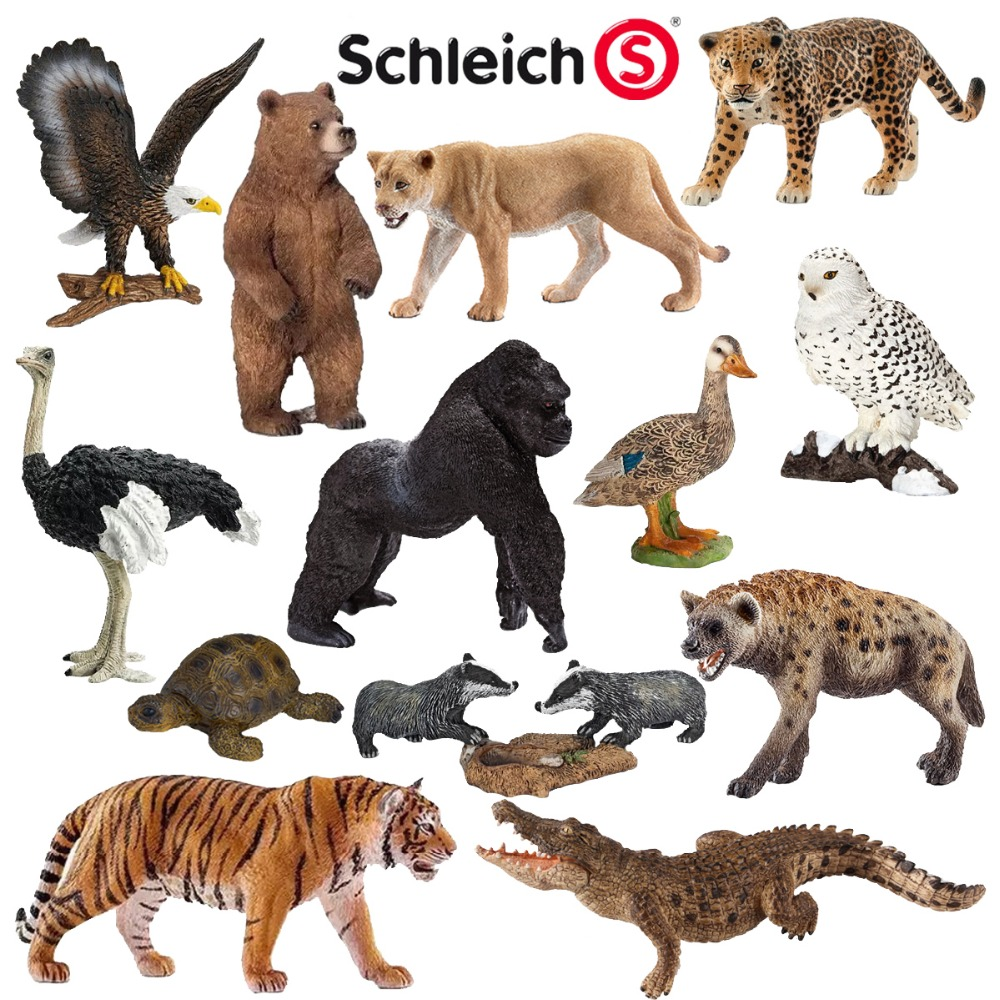 CE identification Simulation Zoo Toy Ostrich Crocodile Golden Eagle Owl Tortoise Hyena King Kong Jaguar Bear Animals Model mr froger carcharodon megalodon model giant tooth shark sphyrna aquatic creatures wild animals zoo modeling plastic sea lift toy