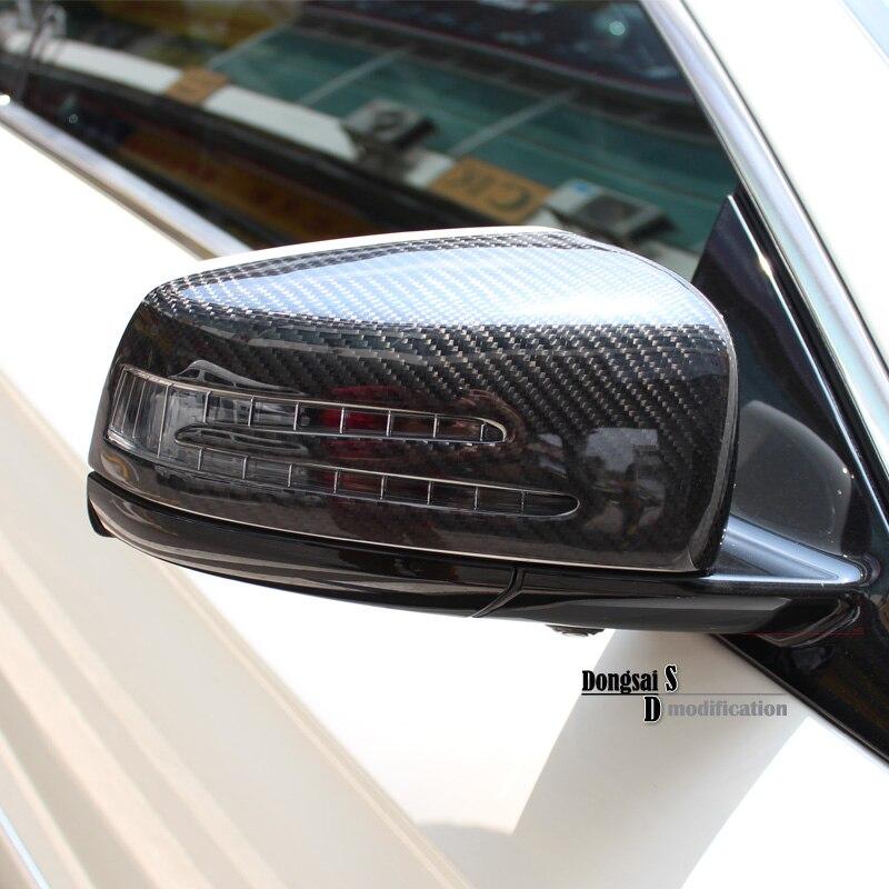 Mercedes зеркало охватывает W176 W117 W204 W207 W212 замена углеродного волокна боковой двери заднего вида Парковка зеркало Крышка для Benz 2010 +