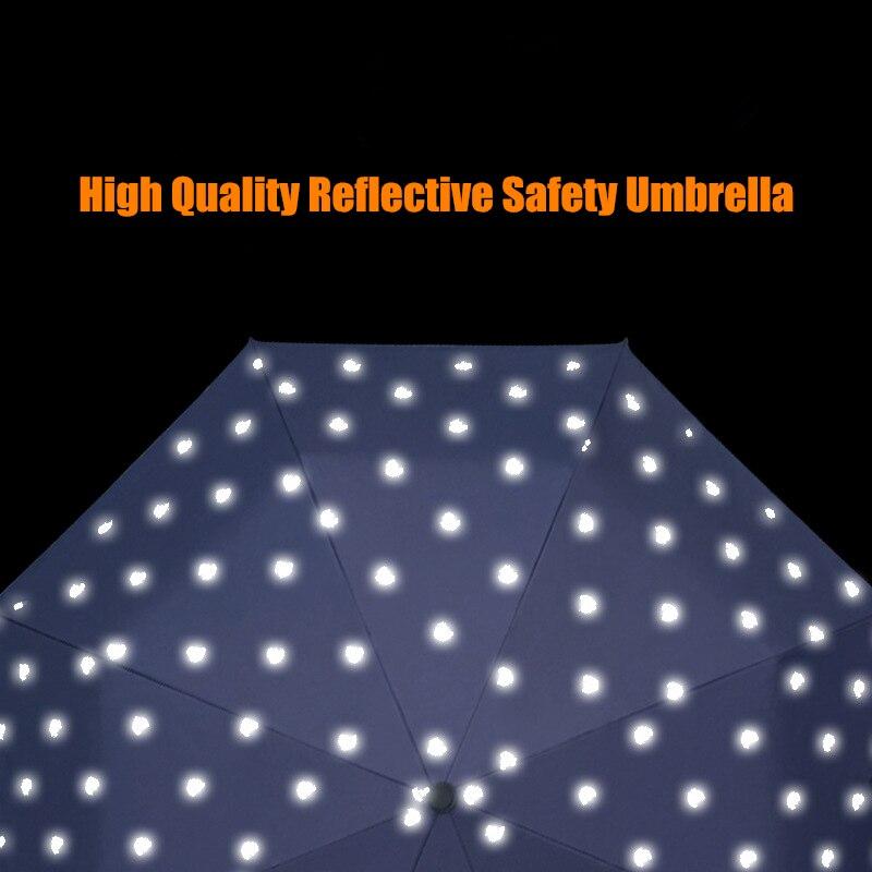 High Quality Big Star Reflective Car Safety Sunny Rainy Fashion Creative Folding Umbrella 10 Ribs Windproof Men Women Gifts