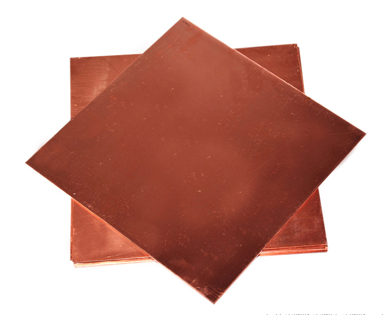 Good Thermal Conductivity 100*100*3.0mm T2 Copper Plate Copper Sheet Red Conductive Copper Plate laser Processing Thermal Pad t2 red copper d150mm x 25mm 2pcs