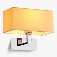 New Flexible Hose LED Wall Lamps 5w Silver with sackcloth beige lamp shade Bedside Reading Light Study Wall Lighting
