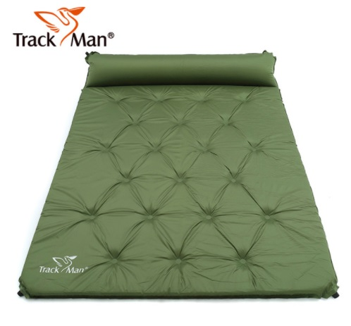 2 Person Automatic Inflatable Mattress Outdoor Camping Mat Pad Self-Inflating Moistureproof Picnic Tent Mat with Pillow kingcamp comfort mattress self inflating damp proof 2 person camping mat with pillows inflatable mattress