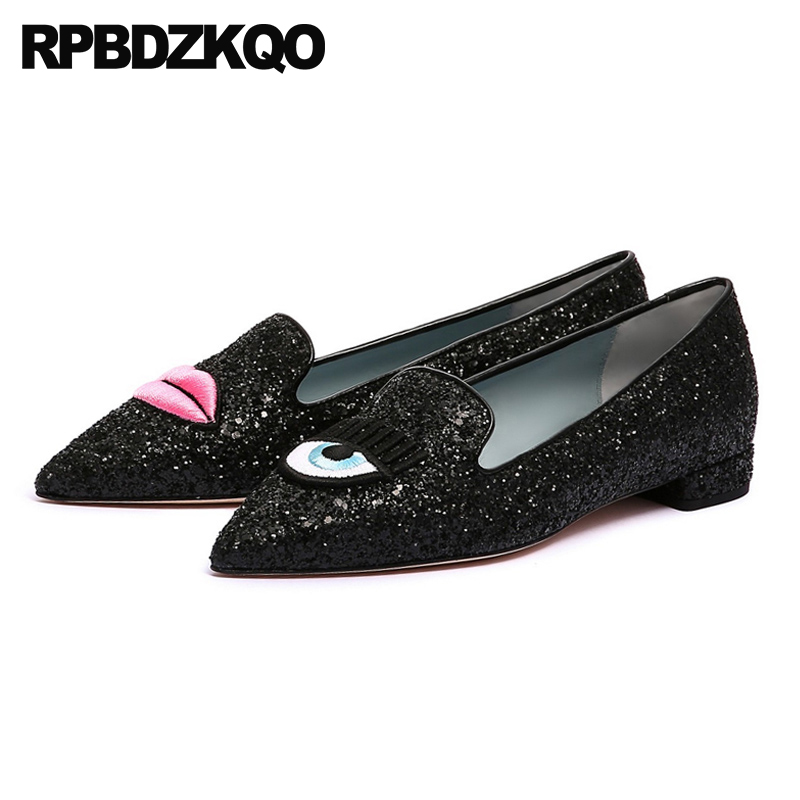 Mouse over to zoom in. pointed toe china women flats slip on shoes glitter  eyelash sequin ... ccb3adb4da51