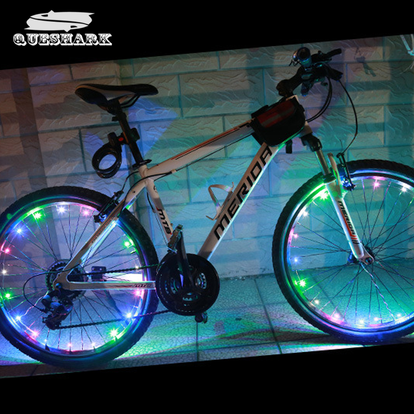 1pc 20 LED Bike Wheel Lights Waterproof Colorful Bicycle Lights Bike Lamp Cycling Wheel Spoke Night Safety Riding Lamp