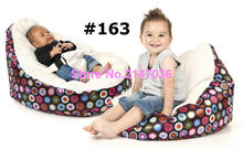 Cream bubbles Original waterproof baby bean bag chair with harness/kids bean bag/baby bean bag