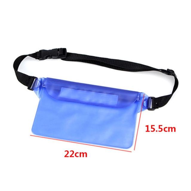 Waterproof Swimming Bag Ski Drift Diving Shoulder Waist Pack Bag Underwater Mobile Phone Bags Case Cover For Beach Boat Sports 3