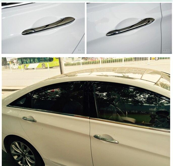 Door Handle Cover For Hyundai Sonata I45 YF 2011 2012 2013 2014 Chrome ABS Trim