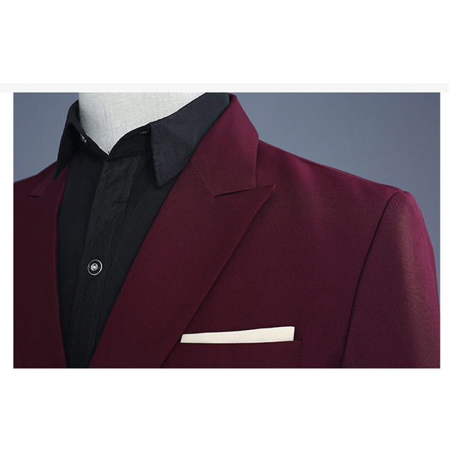 Fashion Brand Men Suits Wedding Male Singers Stage Costume Slim Fit Suits DJ DS Performances Red Wine Host Dance outfit